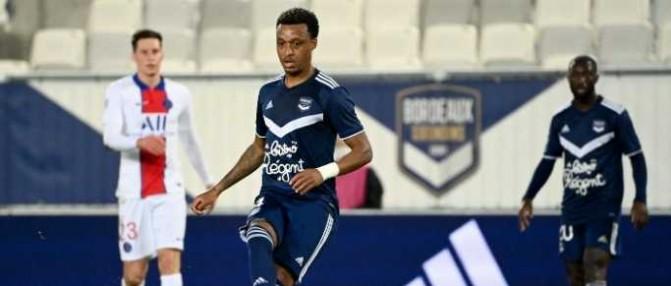Le défenseur des Girondins Edson Mexer blessé