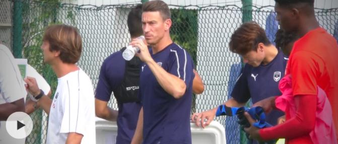 Entraînement : premiers pas de Laurent Koscielny avec les Girondins