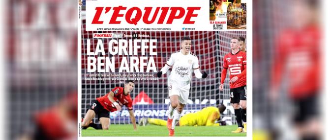 Hatem Ben Arfa et les Girondins font la Une de l'Équipe