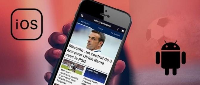 Suivez l'info des Girondins avec nos applis Android et iOS