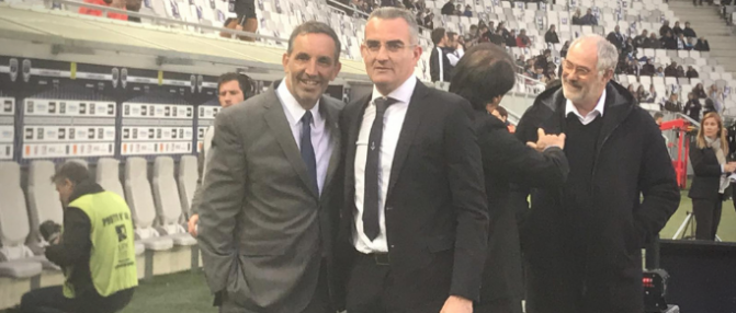 Eduardo Macia assiste à l'entraînement des Girondins