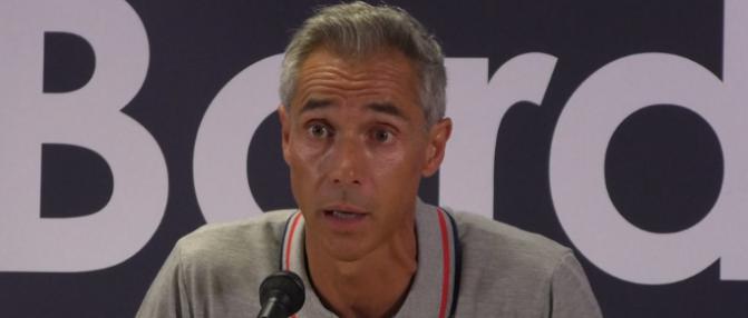 """Paulo Sousa : """"On a vu une équipe qui cherchait à jouer, à se créer des opportunités"""""""
